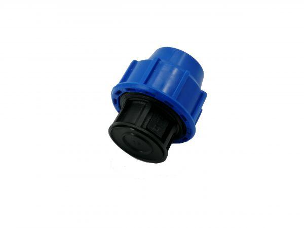 PP-Klemmfitting Endkappe 25mm