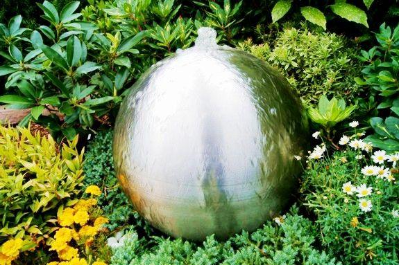 Edelstahl Springbrunnenkugel 40cm