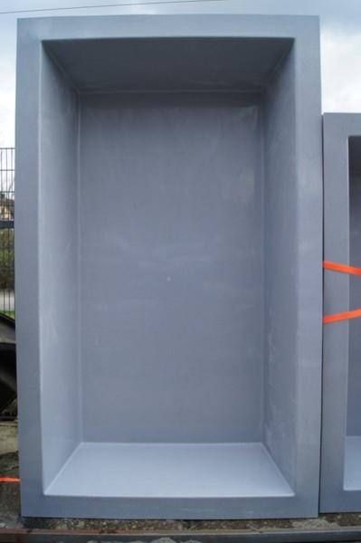 gfk rechteckbecken granit 240 x 180 x 52cm gfk. Black Bedroom Furniture Sets. Home Design Ideas