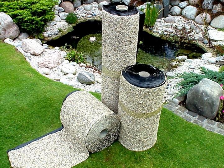 Oase steinfolie 100cm breite oase steinfolie oase for Garten randgestaltung