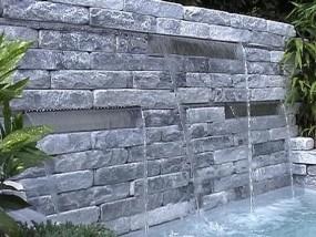 Wasserfall Edelstahl 3er Set (60cm+60cm+60cm)