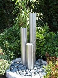 Edelstahl Springbrunnensäulen 3er Kombination 60-90-120cm