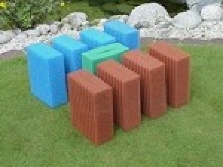 4 x grob + 3 x fein Ersatzschwamm Set passend für Oase Filtoclear 16.000