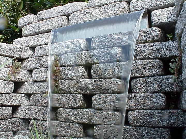 edelstahl wasserfall 60cm | edelstahl wasserfall | edelstahl, Hause und Garten