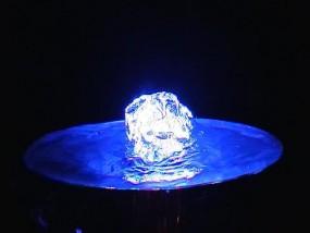 Quellbeleuchtung Blau 3er