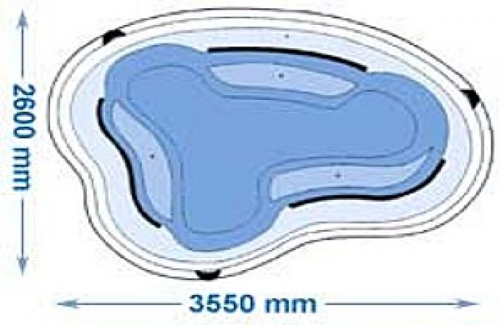 Gfk teichbecken 3150b teichbecken liter liter teichbecken oase wassergarten - Neyses gartenteiche ...
