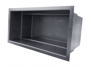 GFK Rechteckbecken (Schwarz) 240 x 120 x 100cm