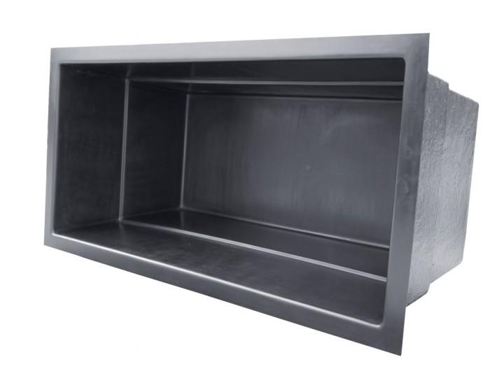 gfk rechteckbecken schwarz 240 x 120 x 100cm gfk rechteckbecken teichbecken oase. Black Bedroom Furniture Sets. Home Design Ideas