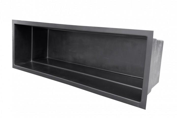 Gfk rechteckbecken schwarz 360 x 120 x 100cm gfk for Stahlwandpool 360 x 120