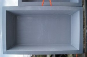 GFK Rechteckbecken (Granit) 460 x 200 x 130cm