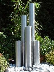 Edelstahl Springbrunnensäulen 5er Kombination 60-90-120-150-60cm