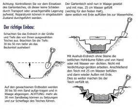 GFK Rechteckbecken (Schwarz) 307 x 180 x 130cm