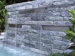 Wasserfall Edelstahl 3er Set (60cm+90cm+60cm)