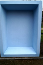GFK Rechteckbecken (Blau-Granit) 240 x 180 x 52cm