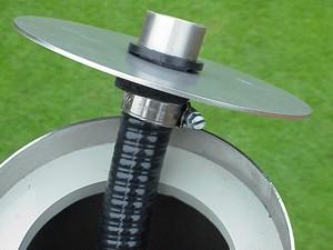 Edelstahl Springbrunnensäule 120cm - Schlauchanschluss