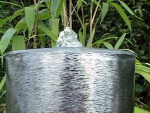Edelstahl Springbrunnensäule 120cm - Quellaustritt