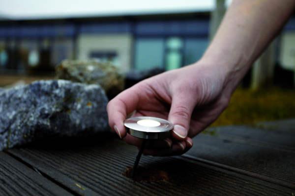 Oase Lunaqua Terra LED - Einsetzten in Terrasse