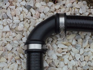 Schlauchverbinder 90° Bogen 1 1/2 Zoll (38-50mm)