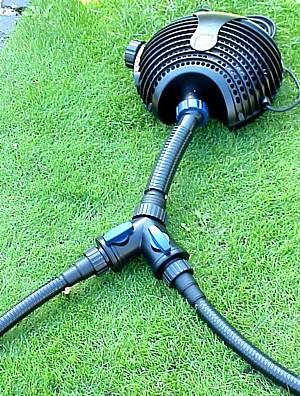 Oase Y-Verteiler - Beispiel mit Pumpe